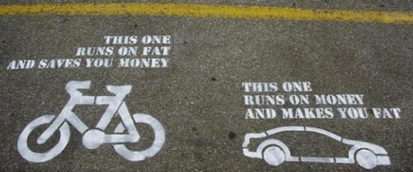One of those most simple, yet convincing arguments for alternative transportation I've ever seen.